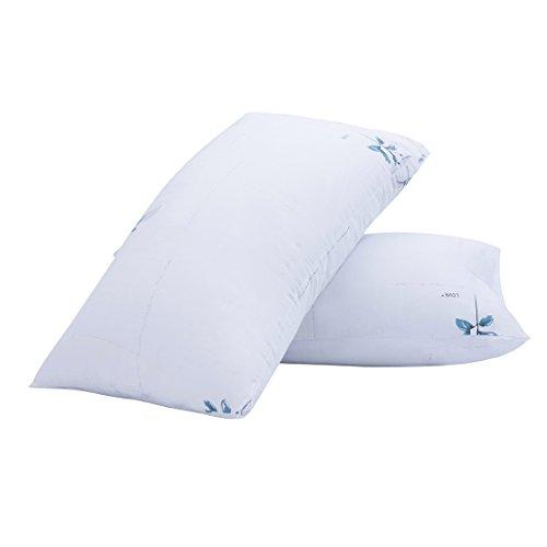 Yuoko White Cotton Pillowcase Set of 2, Envelope Closure Bed Pillow Protectors (White, 20x30)