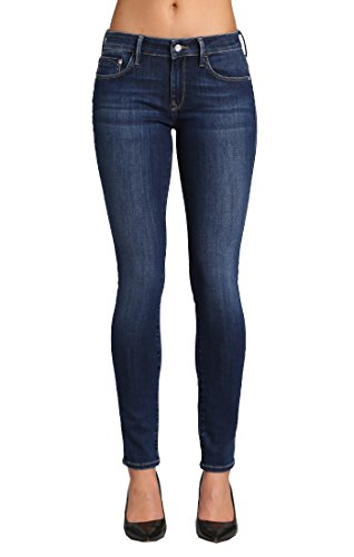 Mavi Women's Alexa Mid-Rise Skinny Jeans, Dark Supersoft, 26W X 28L