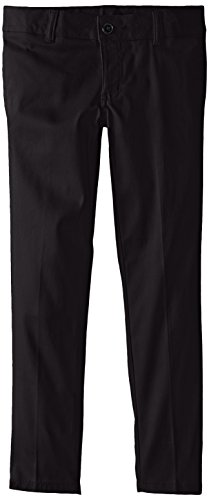 French Toast Plus Girls Stretch Twill Skinny Pant, Black, 14.5 Plus by French Toast