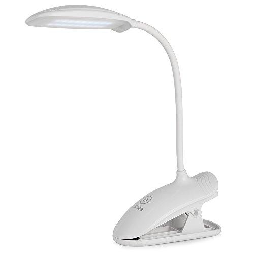 ledgle 8w augenschutz clip on aufsteckbar leselampe tischlampe 3 helligkeitsstufe schwanenhals. Black Bedroom Furniture Sets. Home Design Ideas