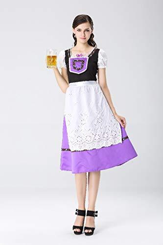 Halloween Costumes Halloween Costumes Oktoberfest Beer Costumes Maid Maid Wear Bavarian Traditional Costumes, Style 2, XL