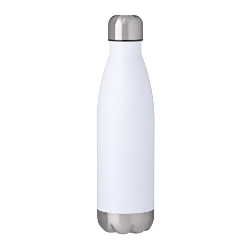 Thirsty Rhino Kola, 17 oz Cola Shaped Double Walled Vacuum Insulated Stainless Steel Water Bottle, White (Set of 1)