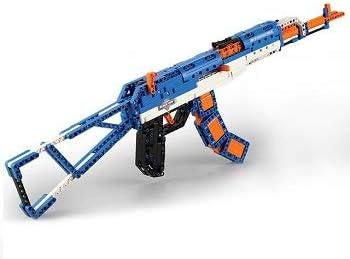 MODELTRONIC Piezas de construcción Rifle de Asalto AK47 de 498 Bloques de Piezas Tipo technic con Disparo de Gomas Cada C81001W