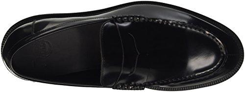 Dr. Martens Men's Penton Polished Smooth Loafers, Black Black (Black)