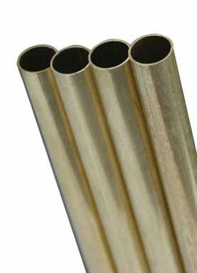 K&S Metal Round Tube 5/16'' D X 36'' L Brass(pack of 4) by K & S Engineering