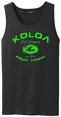 Koloa Vintage Arch Logo Tank Top-Black/green-4XL