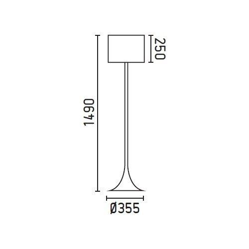 Faro Barcelona Black 29764 - Sobremesas y lámparas de pie, 60W, metal y pantalla textil