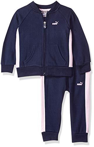 - PUMA Baby Girls' Fleece Hoodie Set, Peacoat, 24M