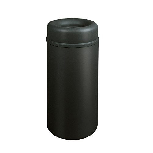 Rubbermaid Commercial Products Crowne Collection Aluminum Refuse Container with Open Top (15-Gallon, Black) (FGAOT15BKPL) ()