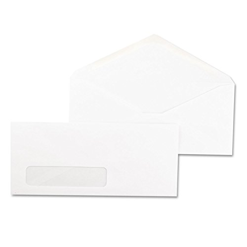 Universal Window Business Envelope, V-Flap, #10, White, 500/Box (35211)