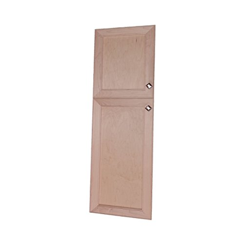 Wood Cabinets Direct MAX-SQ-248-2DRP-18/30 Direct Maxwell Recessed Two Door Frameless 18/30 Pantry Cabinet, 48'' by Wood Cabinets Direct (Image #1)
