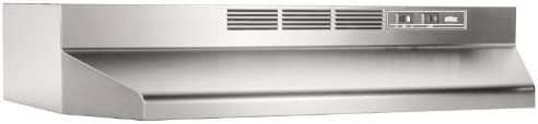 Broan-NuTone 413604 Ductless Range Hood Insert with Light, Exhaust Fan for Under Cabinet, 36-Inch, Stainless Steel