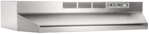 B000UVUUCC Broan-NuTone, Stainless Steel Broan 412404 ADA Capable Non-Ducted Under-Cabinet Range Hood, 24-Inch 318ltEoezUL