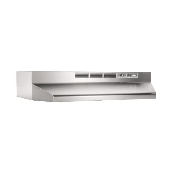 Broan-NuTone 413604 ADA Capable Non-Ducted Under-Cabinet Range Hood, 36-Inch, Stainless Steel