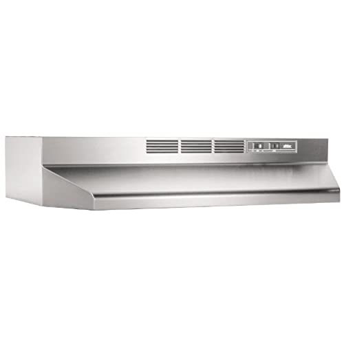 Broan 413004 ADA Capable Non Ducted Under Cabinet Range Hood, 30 Inch,  Stainless Steel