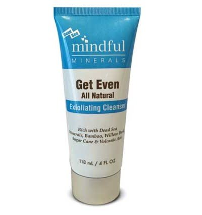 Mindful Minerals Get Even All Natural Exfoliating Cleanser, Dead Sea Minerals, Bamboo, Willow Bark, Sugar Cane and Volcanic (Brown Sugar Scrub Cranberry)