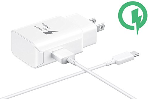 Fast 25W Charging USB-C Wall S6s with Detachable Quick Charge 3.0 USB-C/USB Cable. (White)