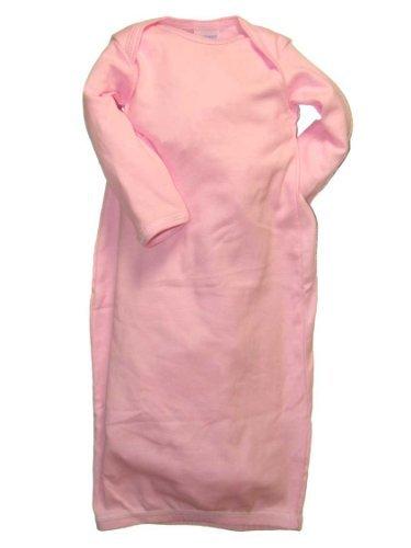 Rabbit Skins Infant Baby Rib Layette, Pink, NB