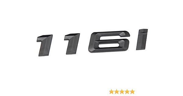 For BMW E81 E87 E88 F20 1-Series 116i Matte Black Trunk Lid Letters Emblem Decal