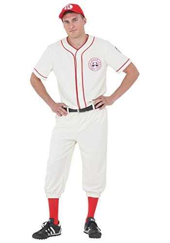 League of Their Own Coach Jimmy Baseball Uniform Costume Large White -