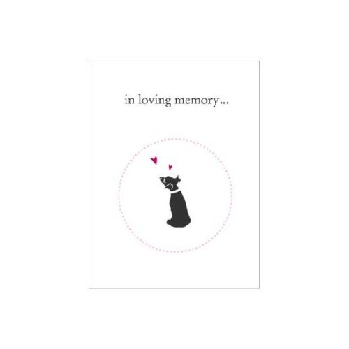Luxepets In Loving Memory, Dog Sympathy Cards, 4-Pack