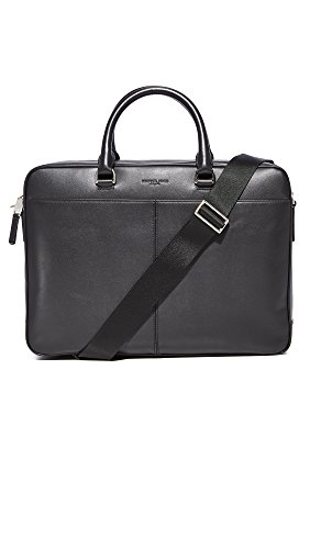 Michael Kors Men's Odin Large Briefcase, Black, One Size by Michael Kors