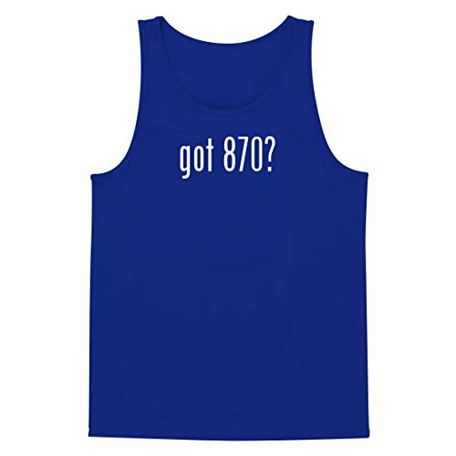 The Town Butler got 870? - A Soft & Comfortable Men's Tank Top, Blue, Large