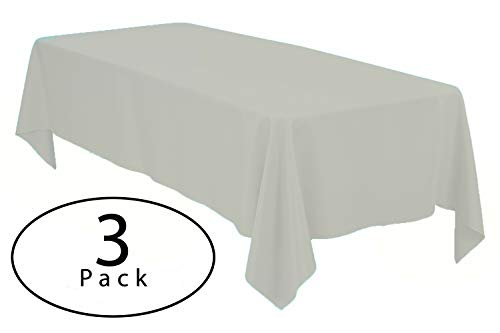 Minel Disposable Party Table Cloths Rectangular 3 Pack Ivory ()
