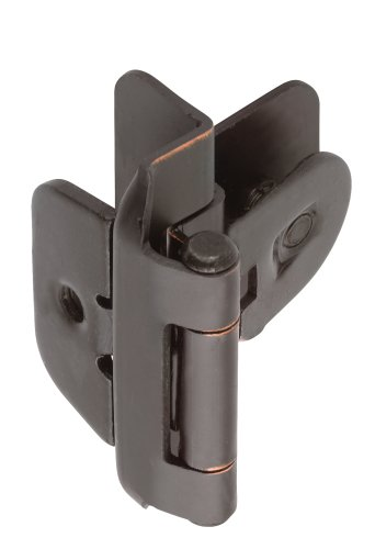 Amerock BPR8700ORB 3/8in (10 mm) Inset Double Demountable Oil-Rubbed Bronze Hinge - 2 Pack
