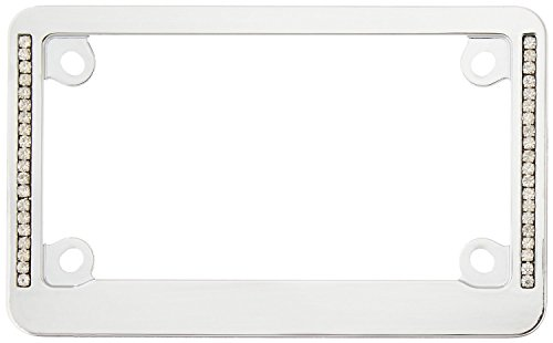 Cruiser Accessories 77830 Chrome/Clear 'MC Neo Diamondesque' License Plate Frame