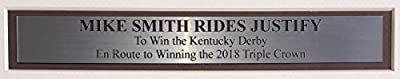 Mike Smith Framed 16x20 Justify 2018 Kentucky Derby Victory Photo