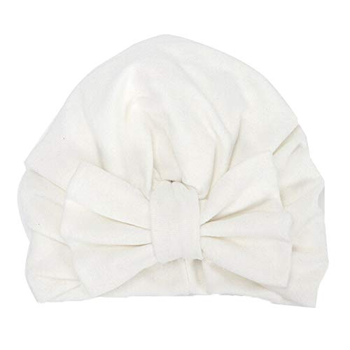 Baby Winter Warm Hat, Fheaven Newborn Girls Boys Big Bowknot Sleep Cap Headwear Hat Cap (White)