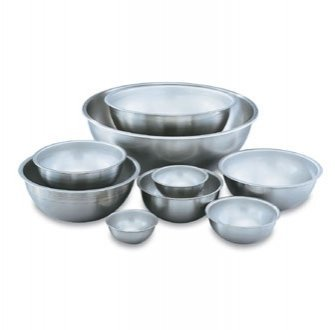 Vollrath (69050) Heavy Duty Mixing Bowl (5-Quart, Stainless Steel) by Vollrath