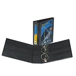 Heavy-Duty View Binder with One Touch EZD Rings, 3\'\' Capacity, Black, Sold as 1 Each