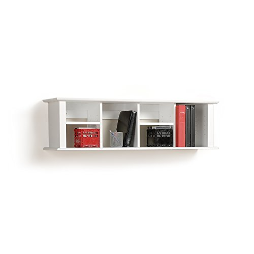 White Wall Mounted Desk Hutch - Furniture Hutch