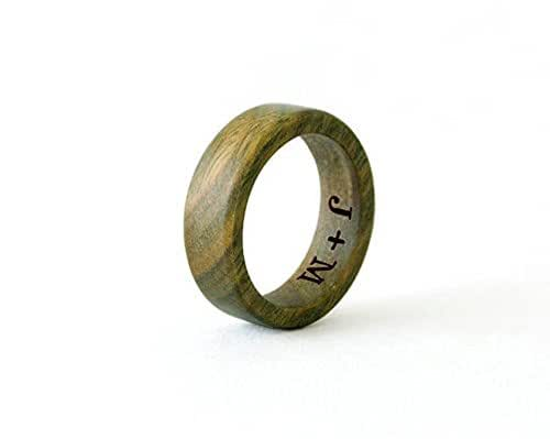 amazoncom sandalwood ring wood ring men wedding band With wooden wedding rings amazon