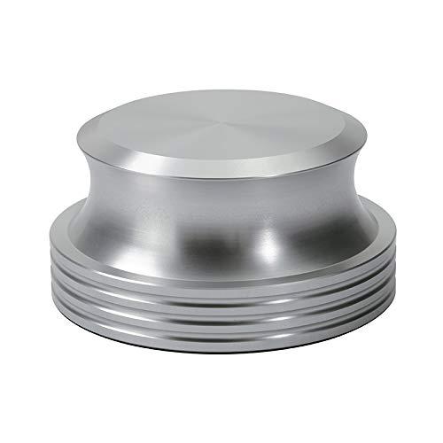 Dynavox Stabilizer PST420, draaitafel van aluminium voor platenspeler, gewicht 420 g, zilver