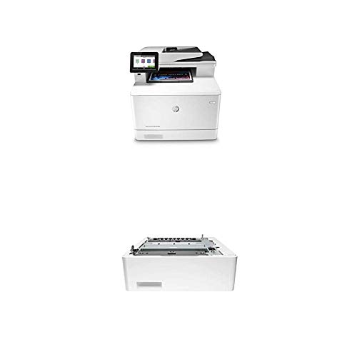 HP Color Laserjet Pro Multifunction M479fdw Wireless Laser Printer with Additional 550-Sheet Feeder Tray (CF404A)