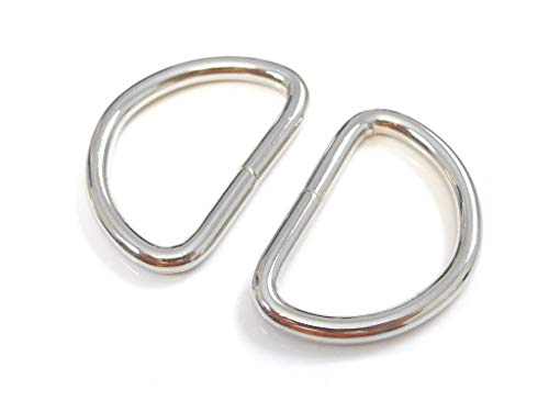 ljdeals Metal D Ring 1 inch Non Welded Nickel Plated Pack of 50