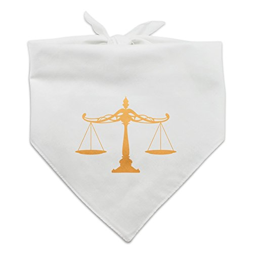 Graphics and More Scales Of Justice Legal Lawyer Dog Pet Bandana - White