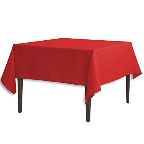 - LinenTablecloth 70-Inch Square Polyester Tablecloth Red