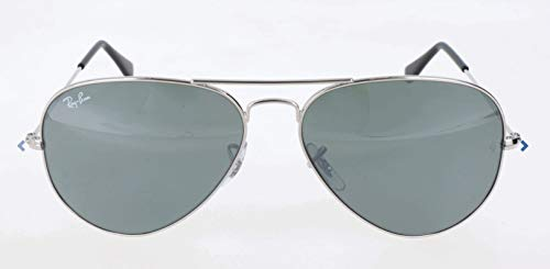 Ray-Ban RB3025 Aviator Sunglasses, Silver/Silver Mirror, 62 mm