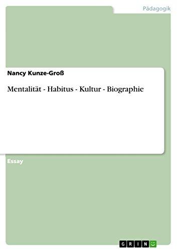 mentalitt habitus kultur biographie german edition by kunze gro - Johannes Gutenberg Lebenslauf