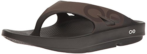 (OOFOS - Unisex Ooriginal Sport - Post Run Recovery Thong Sandal - Black/Brown - M7/W9)
