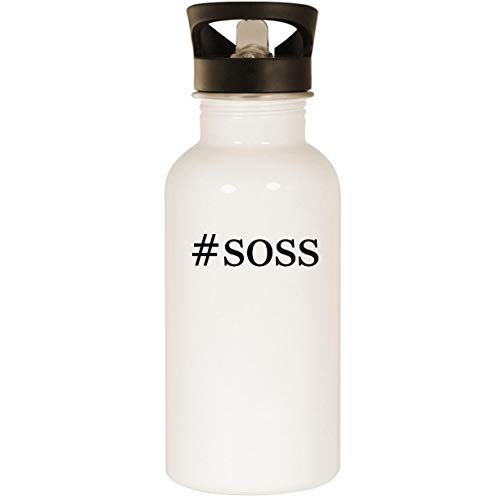 #soss - Stainless Steel Hashtag 20oz Road Ready Water Bottle, White