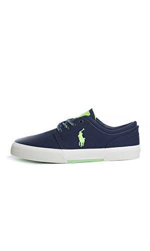 RALPH uomo FAXON sneakers tessuto Y2054 LAUREN scarpe blu lacci navy POLO RHxdqwd