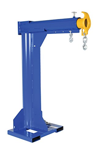 Vestil-LM-HRT-4-24-Steel-Telescoping-High-Rise-Boom-4000-lb-Capacity-24-Fork-Pocket-Center-Overall-LxWxH-in-32-x-54875-x-798125-Overall-Extended-Length-in-94-78-Minimum-Hook-Point-in-30-Maximum-Hook-P