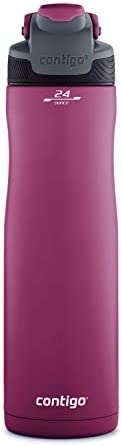 Contigo AUTOSEAL Chill Stainless Steel Water Bottles, 24 oz, SS/Very Berry & Very B