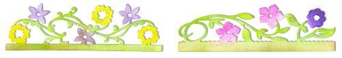 Sizzix Sizzlits Decorative Strip Die - Card Edges, Flower Vines by Scrappy Cat (Strip Accent Vine)