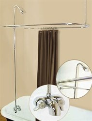 R2200A Clawfoot Tub Shower Faucet and Rectangular Combo Set ...